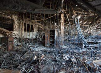 czyszczenie pomieszczenia po pożarze